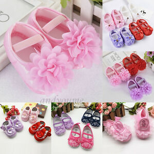 3f8cf5806b Details about Cute Newborn Infant Toddler Girls Baby Crib Pram Shoes Soft  Sole Prewalker 0-18M