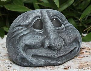 Tête de pierre visage sculpture en décoration jardin JET résistant ...