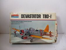1/48 SCALE MONOGRAM DEVASTATOR TBD-1 CARRIER DOUGLAS TORPEDO BOMBER MODEL KIT #2