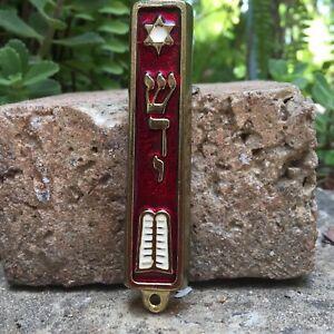 10-Commandment-Mezuzah-Silver-Tone-Made-in-Israel-Door-Mezuza-Hebrew-Torah-Bibl