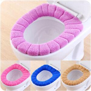 Bathroom-Toilet-Seat-Closestool-Washable-Soft-Warmer-Mat-Cover-Pad-Cushion-BEST