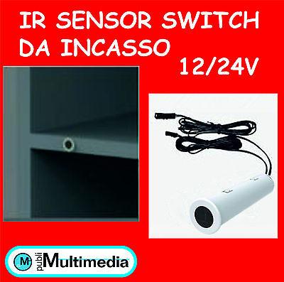 SENSORE APERTURA ANTA ARMADIO DA INCASSO PER STRISCIE LED 12//24V 20W 2A