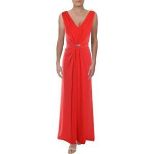 Lauren Ralph Lauren Womens Vawlisa Brooch Detail Evening Dress Gown BHFO 5437