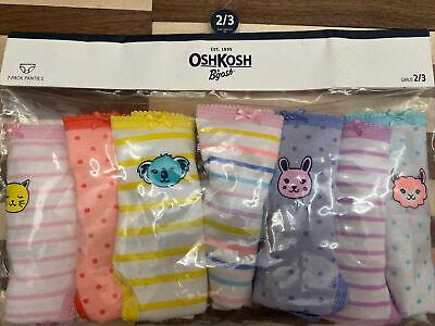New OshKosh 7 Pack Underwear Girls Panties NWT 2 3 5 8 12 14 Mermaids Dinosaurs