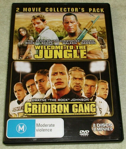 1 of 1 - 2 disc, WELCOME TO THE JUNGLE / GRIDIRON GANG. Region 4, like new.