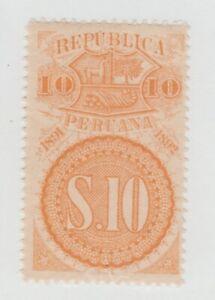 Peru-Cinderella-revenue-fiscal-Stamp-2-15-MNH-gum
