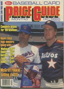 Details About Sports Collector Digest Baseball Card Price Guide December 1989