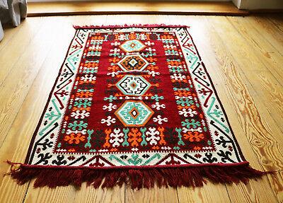 Amichevole 70x110 Cm Tappeto Orientale, Carpet, Matte, Kelim, Rug, Damaskunst S 1-2-2