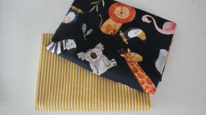 Baumwollstoff 2 x  50 x  140//150 Sonnenblume auf rost Pünktchen rost