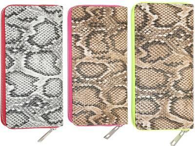 Damen Tasche Geldbörse Portemonnaie Schlange Snake 2