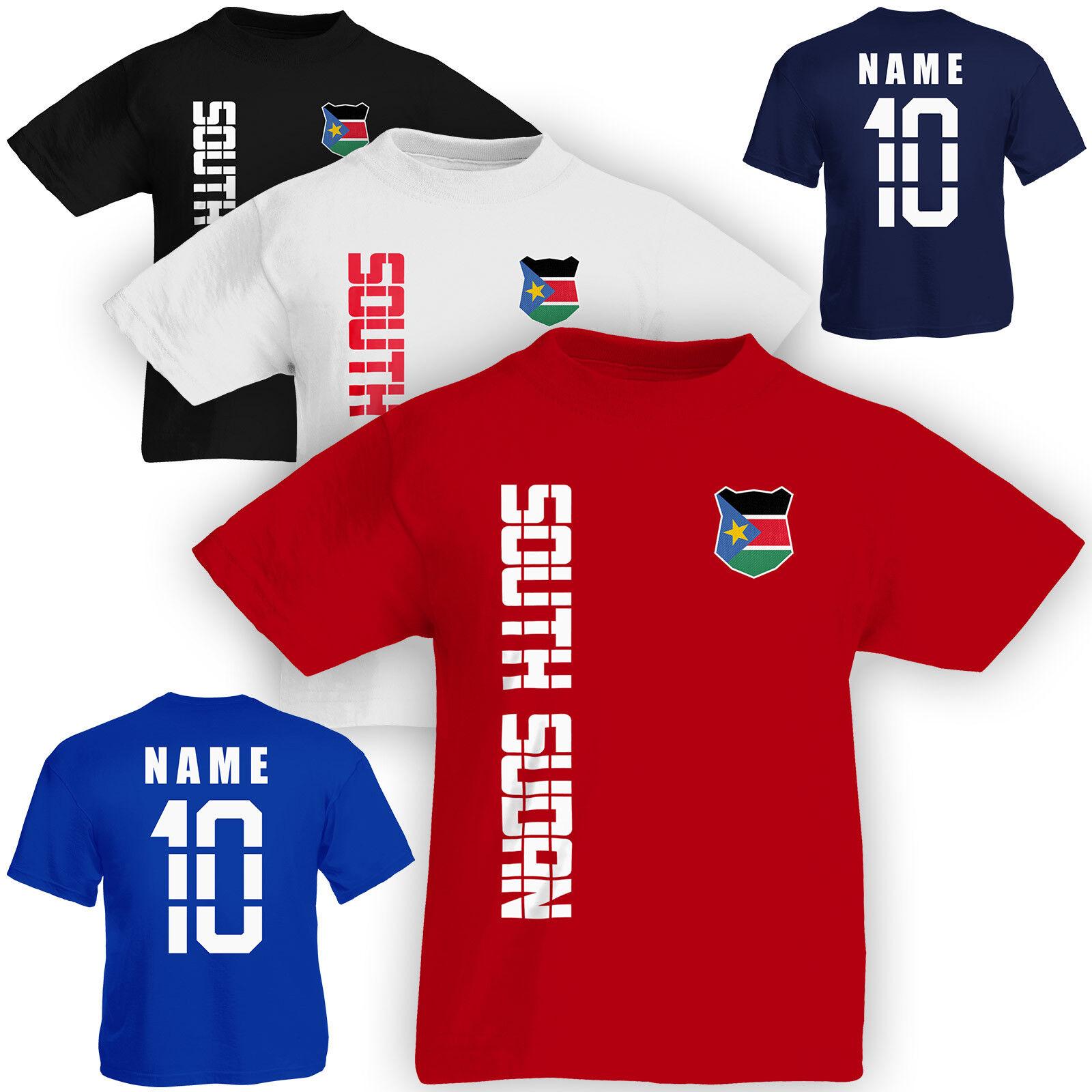 Wunschnummer WM Druck Wunschname u FanShirts4u Kinder Fanshirt Trikot Jersey S/ÜD Afrika Africa T-Shirt inkl