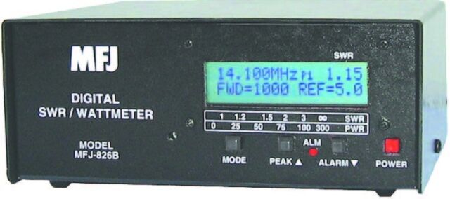 MFJ 826B - Digital SWR/Wattmeter  1.8-54 MHz-1500 Watts - New