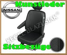 Kunstleder Sitzbezüge Nissan Interstar, Nissan Cabstar- Schwarz - für Fahrersitz
