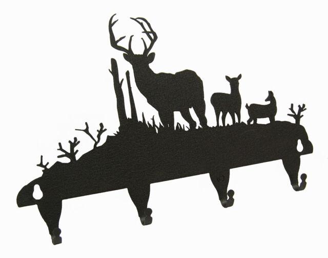 Buck Deer Key Hook Holder Front View