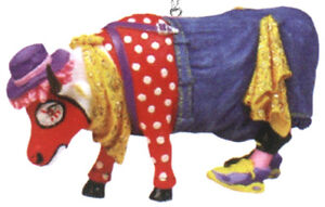 Cow-Parade-2002-BULL-FIGHT-039-N-BOSSIE-ORNAMENT-7581-Clown-New-amp-Hard-to-Find