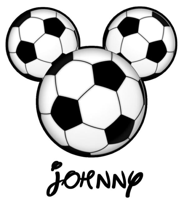 ***** GREAT DISNEY SOCCER  MICKEY MOUSE PERSONALIZED T-SHIRT IRON ON TRANSFER