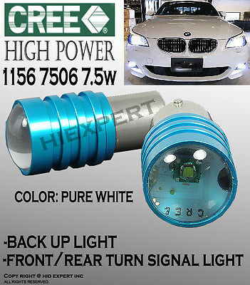 JDM 2 pcs 1156 Direct Fit Socket Rear Turn Signal Super White CREE 7.5W BulV3071