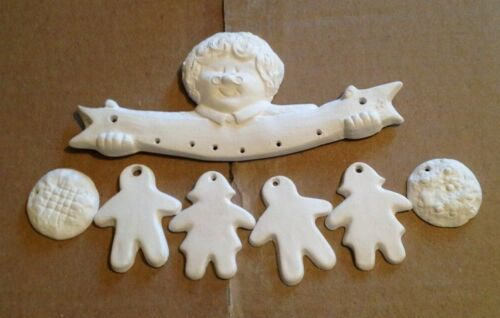 Ceramic Bisque Ready to paint Santa or Mrs Santa or Grandma orn