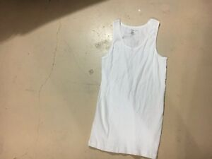 Tommy-Hilfiger-Men-039-s-White-Tank-Top-Size-Large-FREE-SHIPPING