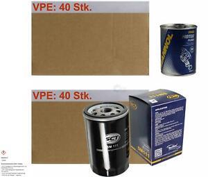 40x Original Sct Oil Filter Sm 111+ 40x Sct Motor Flush Engine Flushing