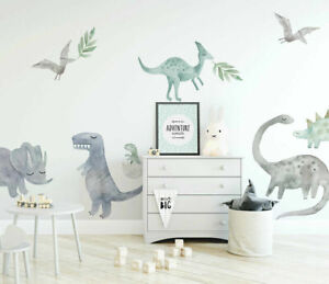Large Dinosaur Wall Sticker Boys Room Baby Nursery Decor Decal Art Mural Gift