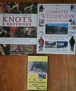 Lot of Survival Books VHS Complete Wilderness Training Book Outdoor Survival