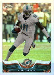 2013-Topps-Chrome-MIKE-WALLACE-156-refractor-Miami-Dolphins
