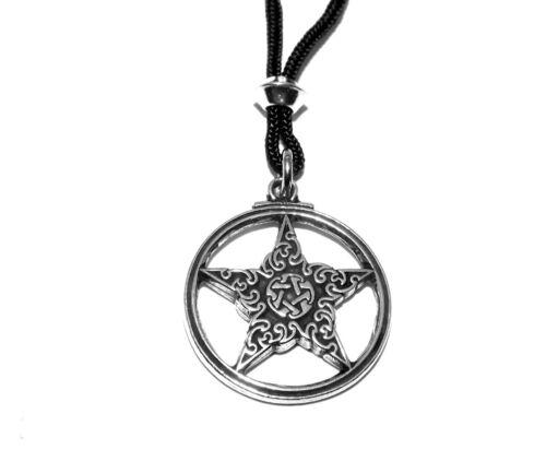 Knotwork Gothic Pentacle Pentagram Pagan Pendant Necklace