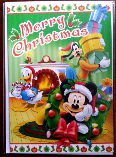 "Neuf enveloppe Carte Disney /""Merry Christmas/"" Mickey Donald H11"