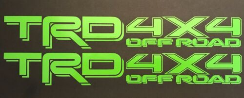 LIME GREEN TOYOTA TRD TRUCK OFF ROAD 4x4 TOYOTA RACING TACOMA DECAL STICKER SUV