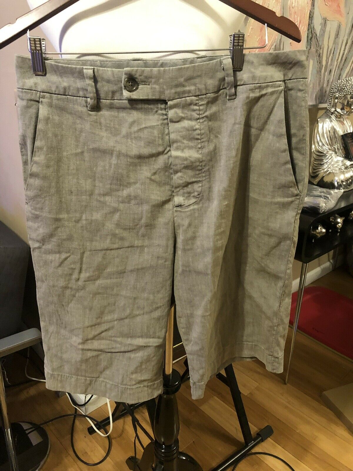 James Perse Linen Shorts Sz 30 But Fits Like 31-32