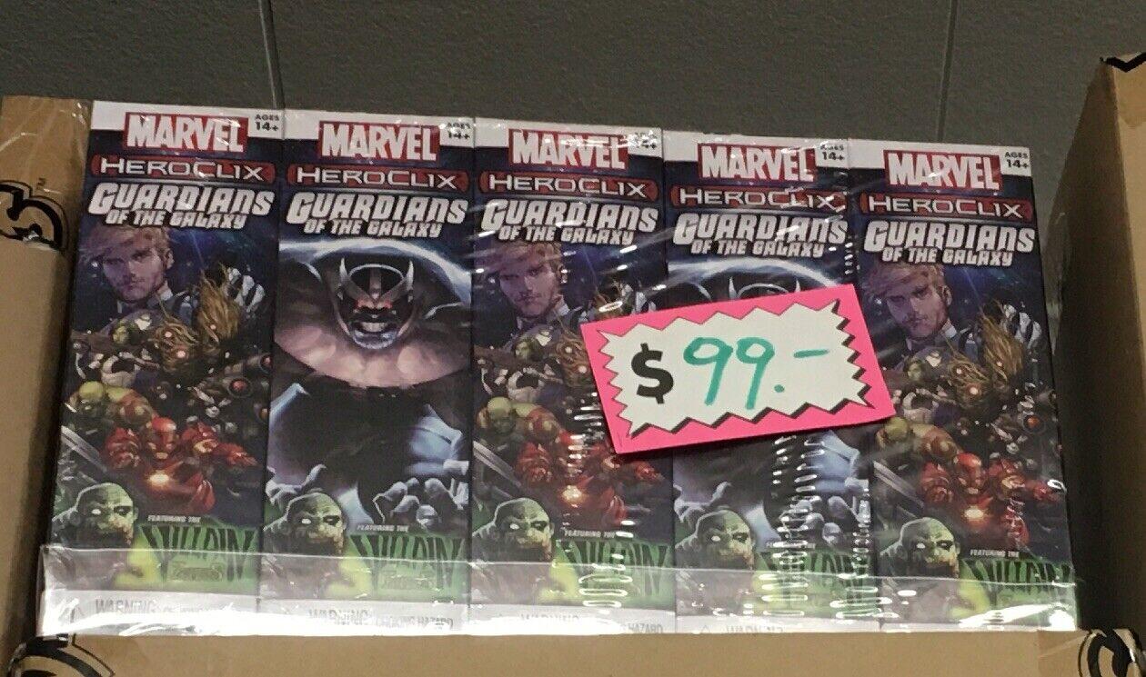 Marvel Heroclix Guardianes de la galaxia de Refuerzo Ladrillo 10x cajas SELLADAS RECUERDO