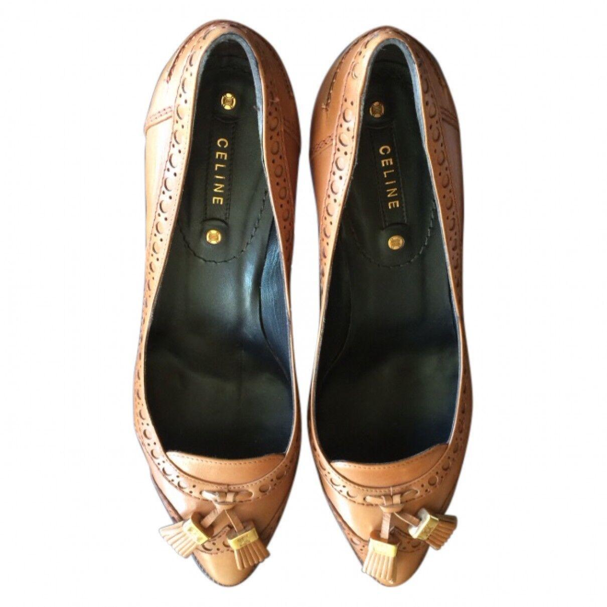 Céline Brown Leather Heels unworn eu39 eu39 unworn 3876f2