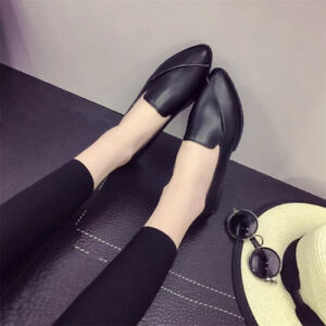 Women-Flat-Pointed-Toe-Slip-On-Shoes-Loafers-Soft-Sole-Casual-Leather-Sneakers