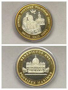 Medal Benedictus Xvi Pontifex Maximus Mense Maio Mmvi Bicolor Ebay