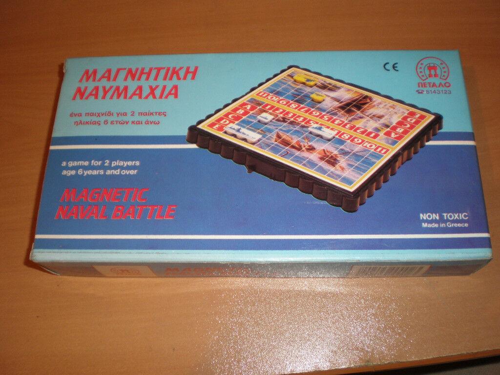 80's VINTAGE MAGNETIC GREEK BOARD GAME BATTLESHIP PETALO TRAVEL
