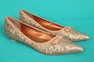 5 38 con glitter Bertie di Taglia Scarpe oro scintillante 6OqwxTx