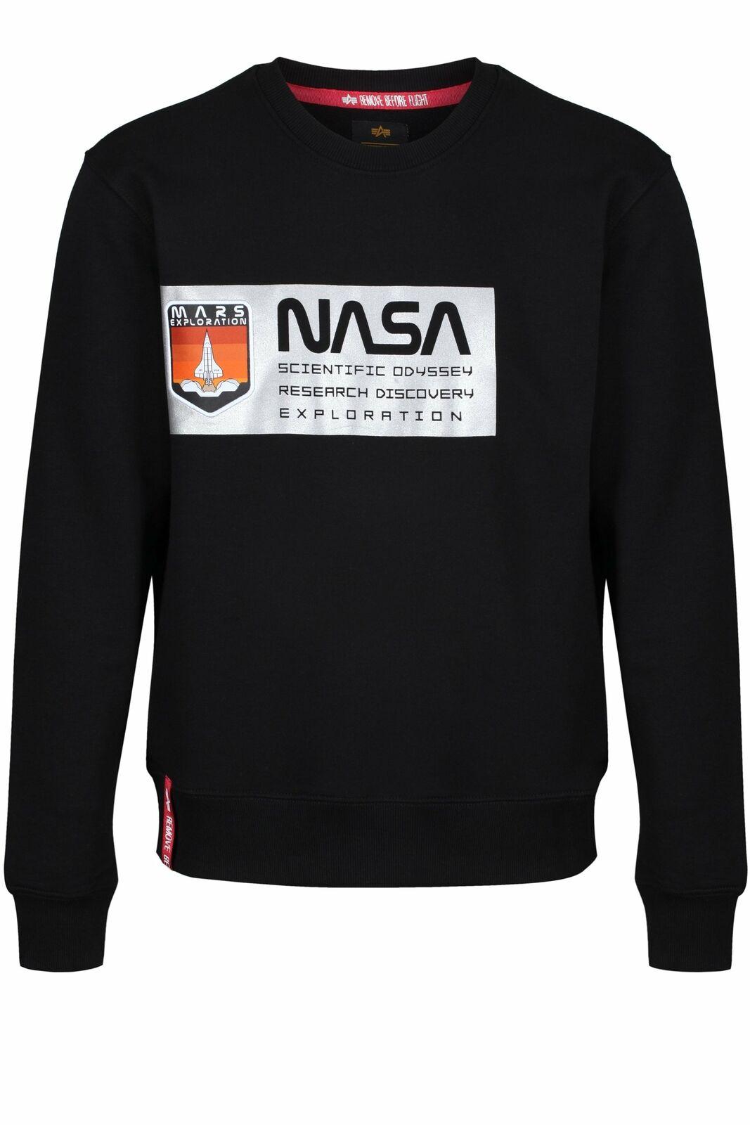 Limited Edition ALPHA INDUSTRIES Mars Reflective Sweatshirt | Black