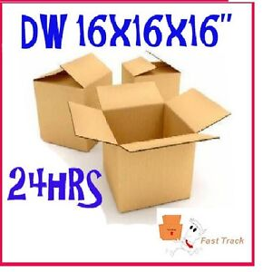 15 x STRONG DOUBLE WALL REMOVAL MAILING BOXES 16x16x16/""