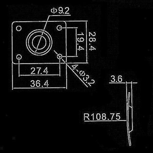 Rechteckige Output Jack Platte Aus Rostfreier Stahl mit Schrauben für