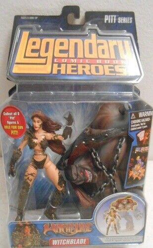 Witchblade Pitt BAF Legendary Comic Book Heroes Marvel Toys ToyBiz Head (Sealed)