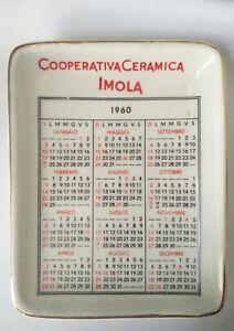 Calendario 1960.Dettagli Su Posacenere Calendario 1960 Ceramica Imola
