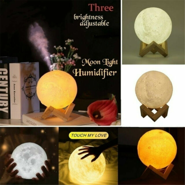 Usb Light Air Purifier Diffuser 880ml 3d Moon Lamp Aroma Humidifier For Sale Online Ebay