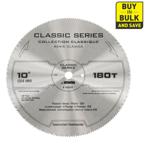 "10/"" Tooth Dry Circular Saw Blade Wood Plastic Plywood Vinyl Siding Cutting Tool"