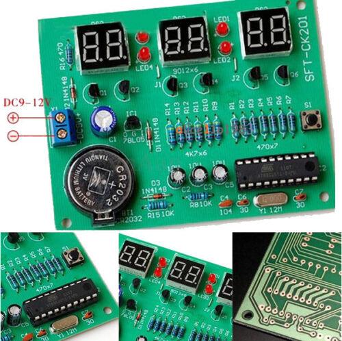 9V-12V AT89C2051 6 DEL numérique électronique horloge Pièces Composants À faire soi-même Kit Module