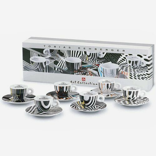 ILLY COLLECTION 6er Set Cappuccino Tasses Tobias Rehberger