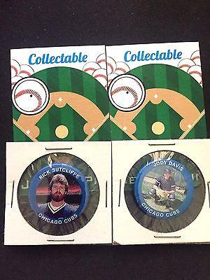 2 Klassisch Collectables-sutcliffe VertrauenswüRdig Chicago Cubs Pinbacks Davis-gift Artikel Um Der Bequemlichkeit Des Volkes Zu Entsprechen