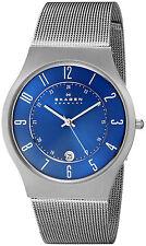 Skagen 233xlttn Para Hombre Grenen Titanium Blue Dial Watch