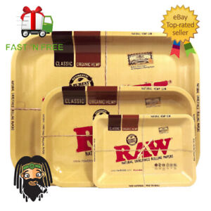 RAW-Mini-Small-Medium-amp-Large-Classic-Metal-Collectors-Rolling-Tray-RAWthentic