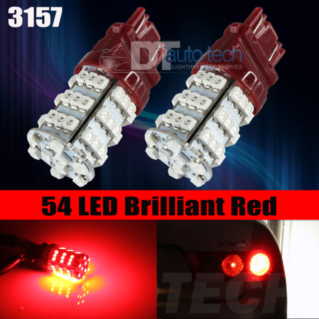 4X 3157 3156 Red SMD LED Brake Stop Tail Lights Bulbs